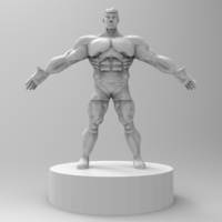 Small muscle male character 3D Printing 175422