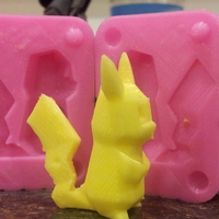 Small Pikachu Low Poly Mold 3D Printing 17543