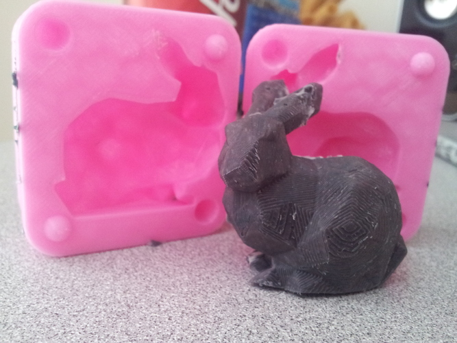 Stanford Bunny Mold 3D Print 17545