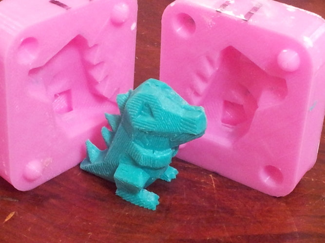 Low Poly Totodile Mold 3D Print 17548