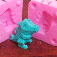 Small Low Poly Totodile Mold 3D Printing 17548