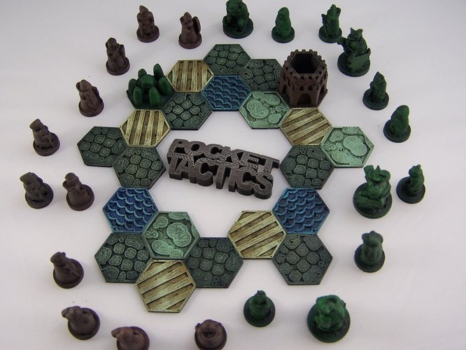 Pocket-Tactics Logo 3D Print 1755
