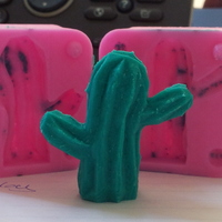 Small Lowpoly Cactus mold 3D Printing 17550