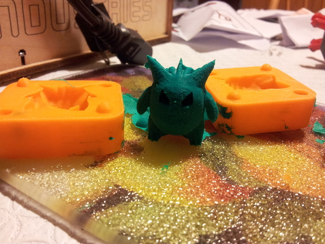 Low Poly Gengar mold 3D Print 17553