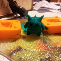 Small Low Poly Gengar mold 3D Printing 17553