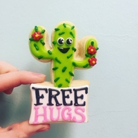 Small cactus free hugs cutter 3D Printing 175663