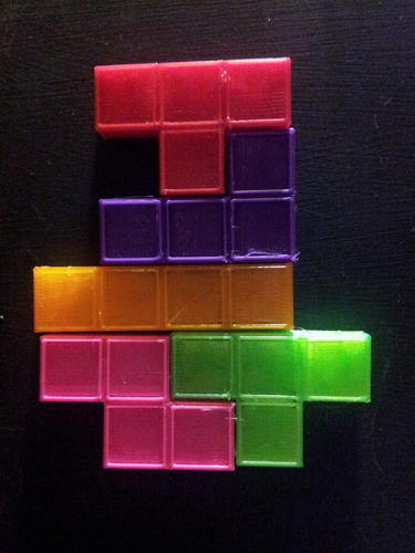 Magnetic Tetris Pieces  3D Print 17570