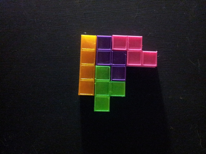 Magnetic Tetris Pieces  3D Print 17571