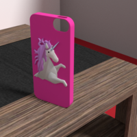 Small unicorn iphone 5 se case 3D Printing 175907