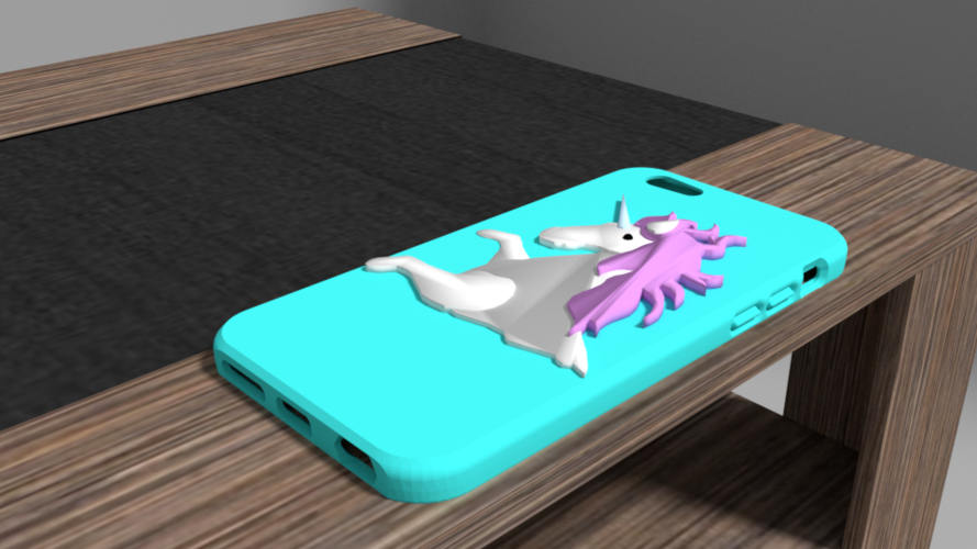 unicorn iphone 6 case 3D Print 175909