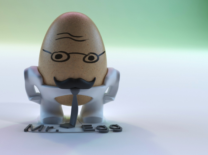 The Egg Family: Mr. Egg 3D Print 17591