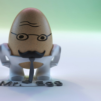 Small The Egg Family: Mr. Egg 3D Printing 17591
