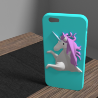 Small unicorn iphone 6 case 3D Printing 175911