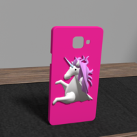 Small Unicorn case samsung a5 3D Printing 175913