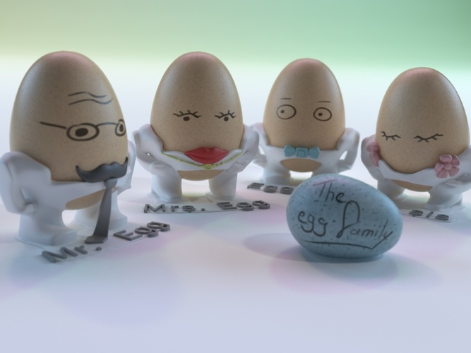 The Egg Family: Mr. Egg 3D Print 17592
