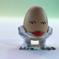 Small The Egg Family: Mrs. Egg 3D Printing 17594