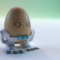 Small The Egg Family: Egg Son 3D Printing 17597