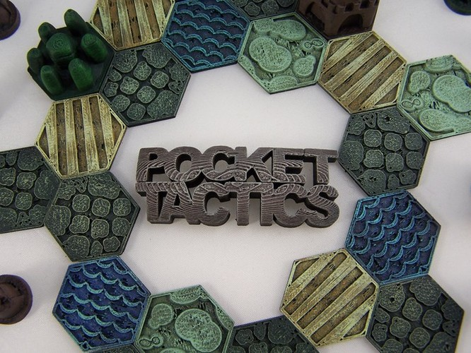 Pocket-Tactics Logo 3D Print 1760