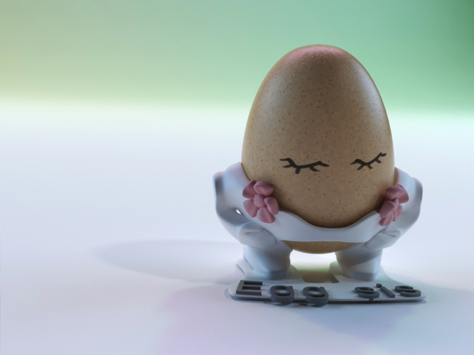 The Egg Family: Egg Sister 3D Print 17600