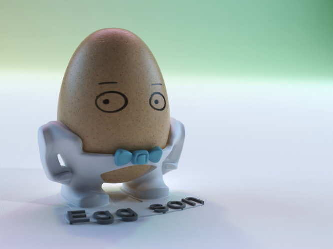 The Egg Family: all four 3D Print 17605