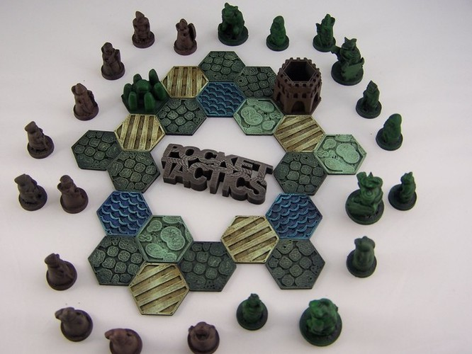 Pocket-Tactics Logo 3D Print 1761