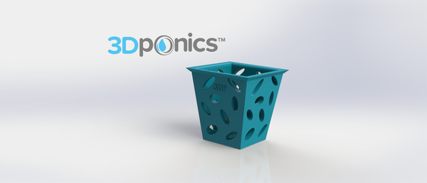 Medium Planter (Square) - 3Dponics Non-Circulating Hydroponics 3D Printing 17616