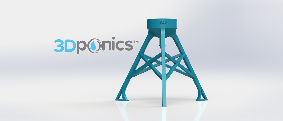 Bottle Stand - 3Dponics Non-Circulating Hydroponics 3D Print 17619
