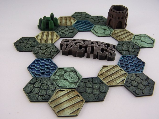 Pocket-Tactics Logo 3D Print 1762