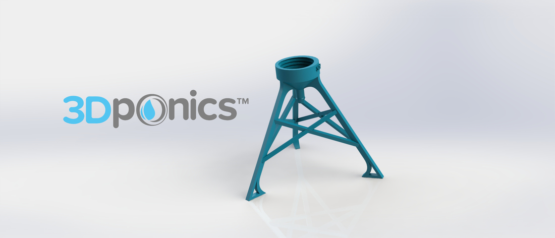 Bottle Stand - 3Dponics Non-Circulating Hydroponics 3D Print 17620