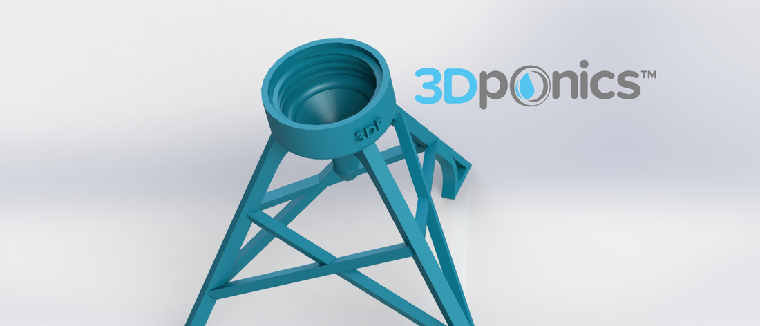 Bottle Stand - 3Dponics Non-Circulating Hydroponics 3D Print 17621
