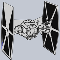 Small Star Wars Tie Fighter  3D Printing 176215
