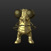 Small Golden fly 3D Printing 176373