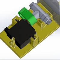 Small Servo operated valve 3D Printing 176376