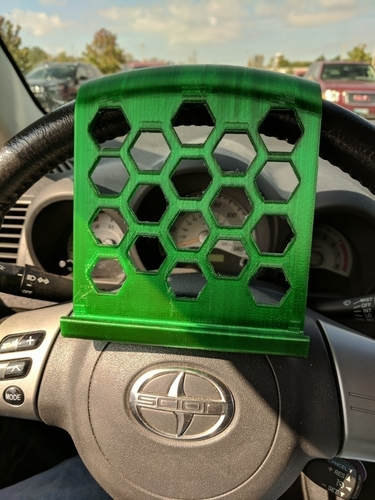 Steering Wheel Phone Stand 3D Print 176384