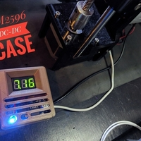 Small LM2596 DC-DC with Digital Volmeter Case 3D Printing 176385