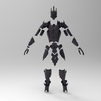 Small Sauron Armor - Complete 3D Printing 176474