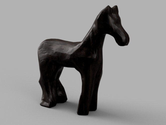 Perfect 3D Printed Wooden Horse by tanmya | Pinshape DY51