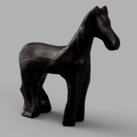 Small Wooden Horse 3D Printing 176665