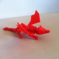 Small My Pet Dragon - Jointed - No support 3D Printing 176790
