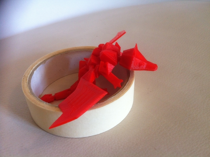 My Pet Dragon - Jointed - No support 3D Print 176792