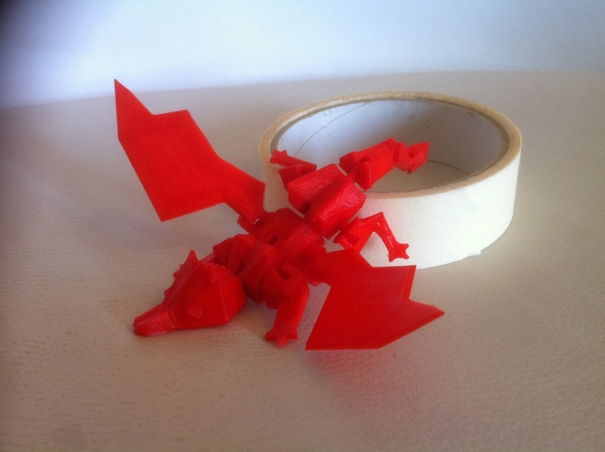 My Pet Dragon - Jointed - No support 3D Print 176793