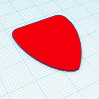 Small Guitar Pick 3D Printing 177066