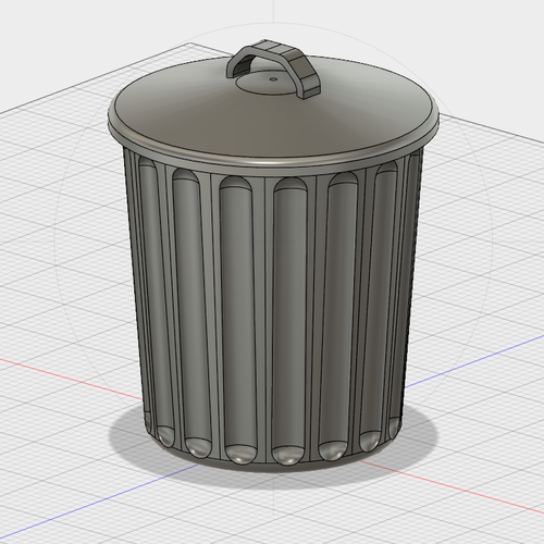 Free Desktop Trash Can with Lid 3D Print 177069