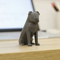 Small Low-poly Pug 3D Printing 177112
