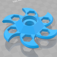 Small Bladed - Fidget spiner 3D Printing 177220