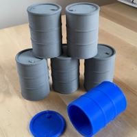 Small Oil drums (1:18 scale) 3D Printing 177230