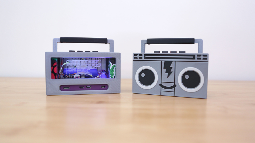 Raspberry Pi Airplay BoomBox 3D Print 177342