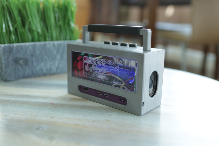 Raspberry Pi Airplay BoomBox 3D Print 177346
