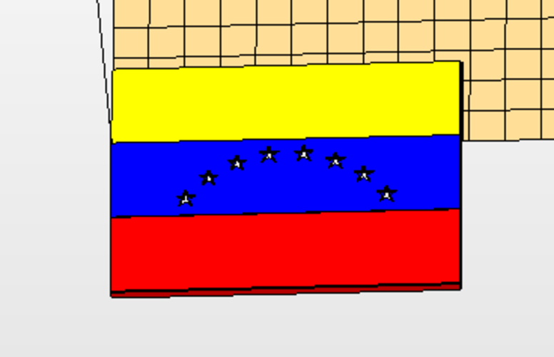 Multi part Venezuelan Flag  3D Print 177608