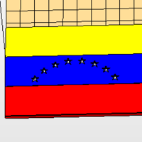 Small Multi part Venezuelan Flag  3D Printing 177608